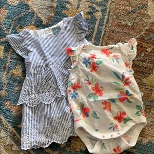 Baby gap ruffle sleeve outfits